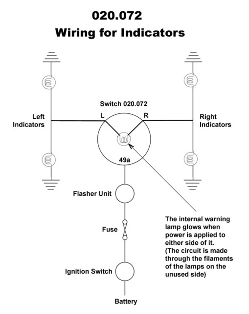 Wiring Diagram For 12v Indicators : Flasher relay for led indicator motorcycle motorbike bike